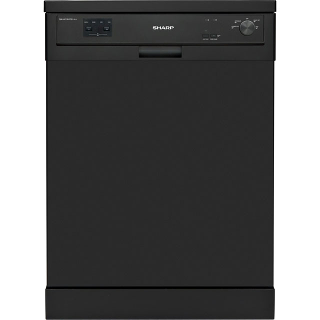 Sharp QW-HX13F472B Standard Dishwasher - Black - A++ Rated - QW-HX13F472B_BK - 1