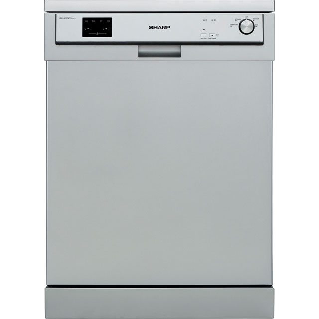 Sharp QW-HX13F472S Standard Dishwasher - Silver - A++ Rated - QW-HX13F472S_SI - 1