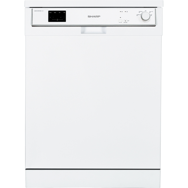 Sharp QW-HX13F472W Standard Dishwasher - White - QW-HX13F472W_WH - 1