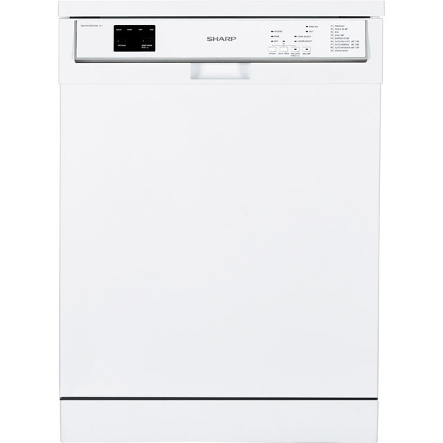 Sharp QW-HY24F472W Standard Dishwasher - White - A++ Rated - QW-HY24F472W_WH - 1