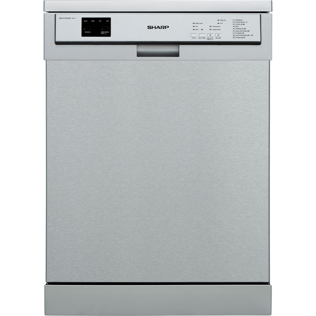 Sharp QW-HY25F463I Standard Dishwasher - Stainless Steel Effect - A+++ Rated - QW-HY25F463I_SSL - 1