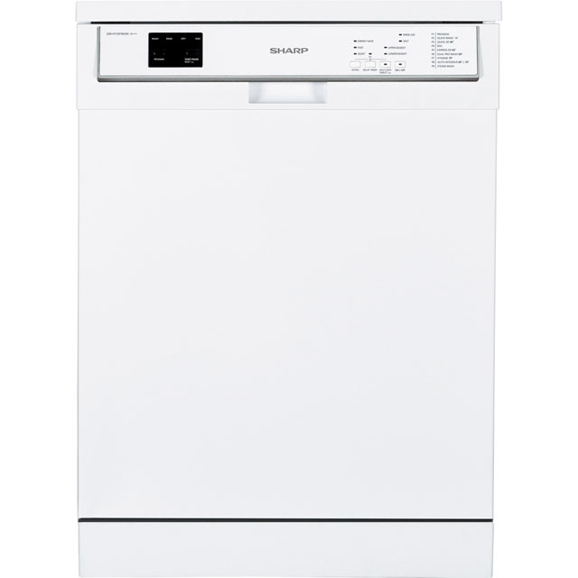 Sharp QW-HY25F463W Standard Dishwasher - White - A+++ Rated - QW-HY25F463W_WH - 1