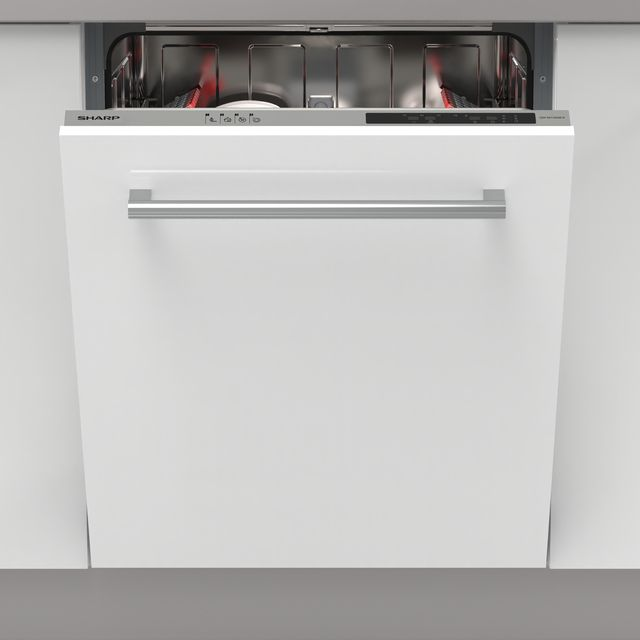 Sharp QW-NI13I49EX-EN Fully Integrated Standard Dishwasher - Silver - QW-NI13I49EX-EN_SI - 1