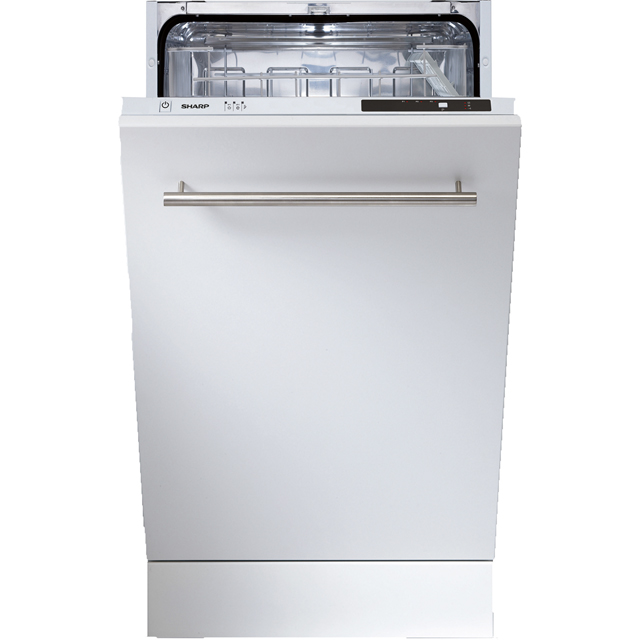 Sharp QW-S12I492X Fully Integrated Slimline Dishwasher - Stainless Steel - QW-S12I492X_SS - 1