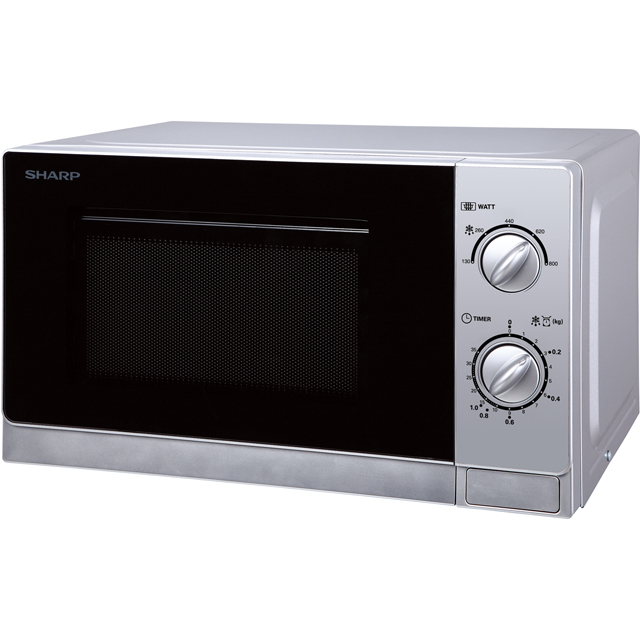 Sharp Microwave R20DSLM Free Standing Microwave Oven in Silver