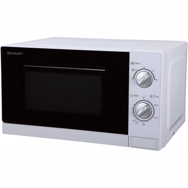 Sharp Microwave R20DWM Free Standing Microwave Oven in White
