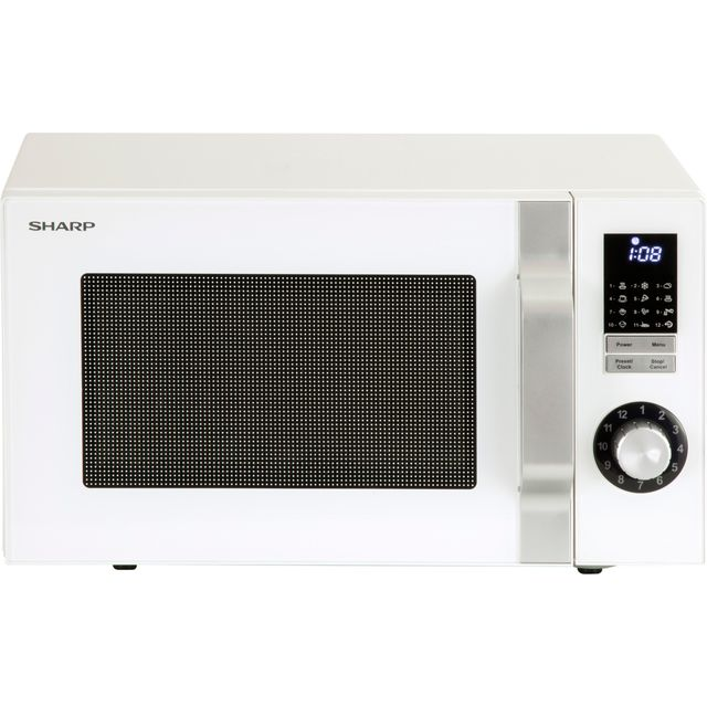 Sharp Microwave R244WM Free Standing Microwave Oven in White