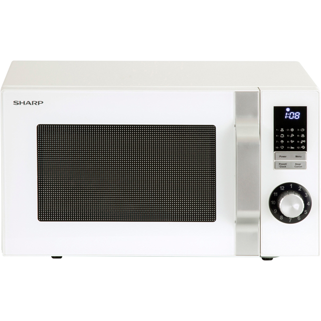 Sharp Microwave R344WM Free Standing Microwave Oven in White