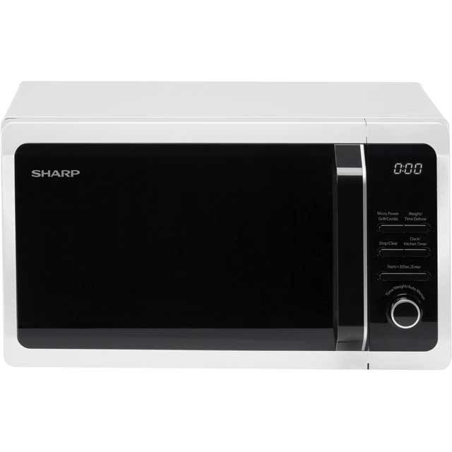 Sharp R664WM 20 Litre Microwave With Grill - White