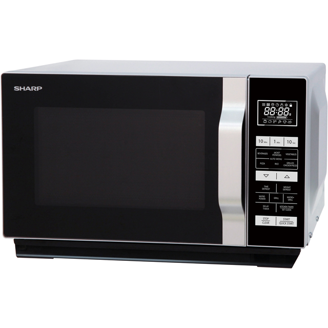 Sharp R760SLM 23 Litre Microwave With Grill - Silver - R760SLM_SI - 1