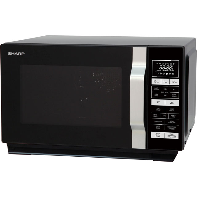 Sharp R860KM 25 Litre Combination Microwave Oven - Black - R860KM_BK - 1
