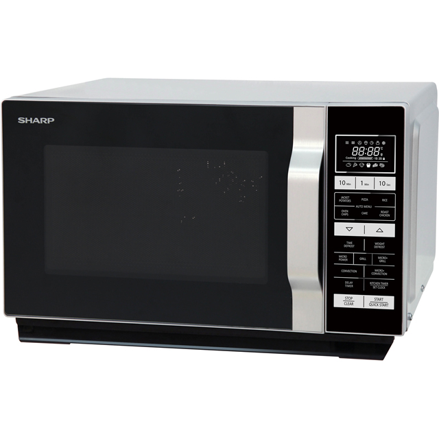 Sharp R860SLM 25 Litre Combination Microwave Oven - Silver - R860SLM_SI - 1