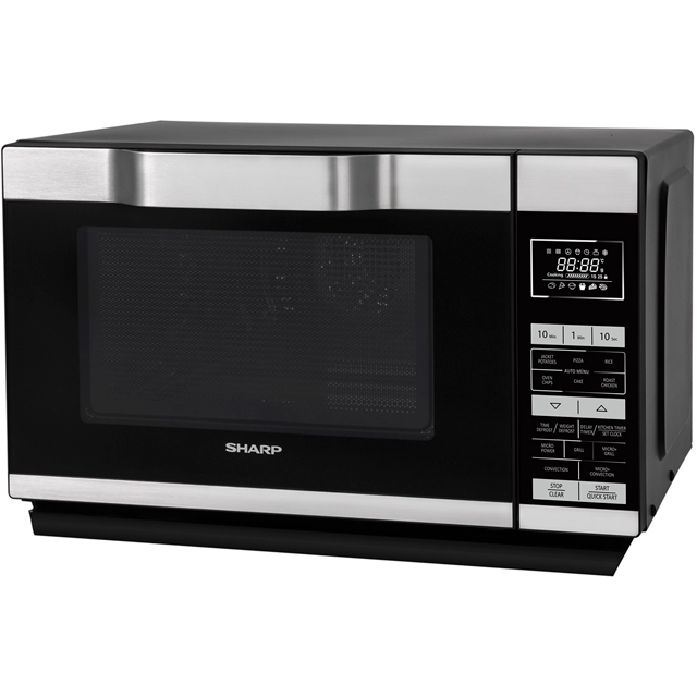 Sharp I series R861KM 25 Litre Combination Microwave Oven - Silver / Black - R861KM_SIBK - 1