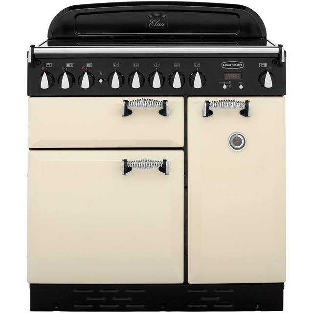 Rangemaster Elan ELAS90ECCR 90cm Electric Range Cooker with Ceramic Hob - Cream - A Rated - ELAS90ECCR_CR - 1