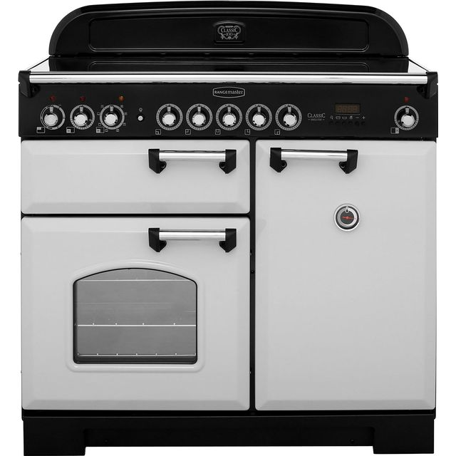 Rangemaster Classic Deluxe CDL100EIRP/C 100cm Electric Range Cooker with Induction Hob - Royal Pearl - A/A Rated - CDL100EIRP/C_RP - 1