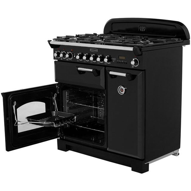 Rangemaster CDL90DFFCR/B Classic Deluxe 90cm Dual Fuel Range Cooker - Cream / Brass - CDL90DFFCR/B_CR - 3