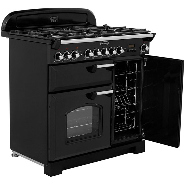 Rangemaster CDL90DFFRP/C Classic Deluxe 90cm Dual Fuel Range Cooker - Royal Pearl - CDL90DFFRP/C_RP - 4