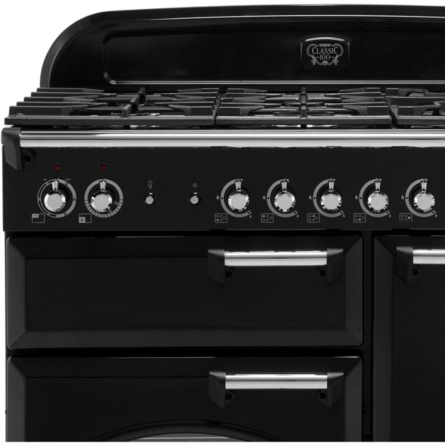 Rangemaster CLA100DFFCY/C Classic 100cm Dual Fuel Range Cooker - Cranberry / Chrome - CLA100DFFCY/C_CY - 2