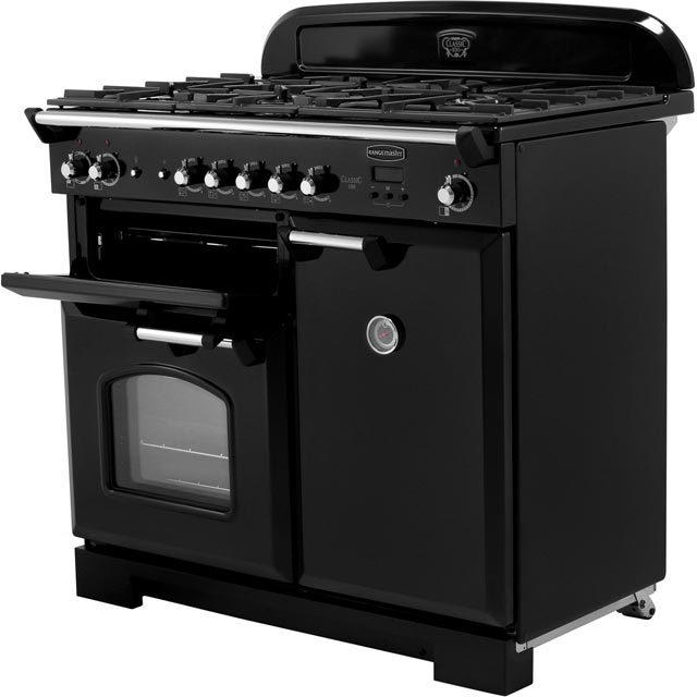 Rangemaster CLA100DFFCY/C Classic 100cm Dual Fuel Range Cooker - Cranberry / Chrome - CLA100DFFCY/C_CY - 4