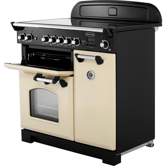 Rangemaster CLA90ECCY/C Classic 90cm Electric Range Cooker - Cranberry / Chrome - CLA90ECCY/C_CY - 2