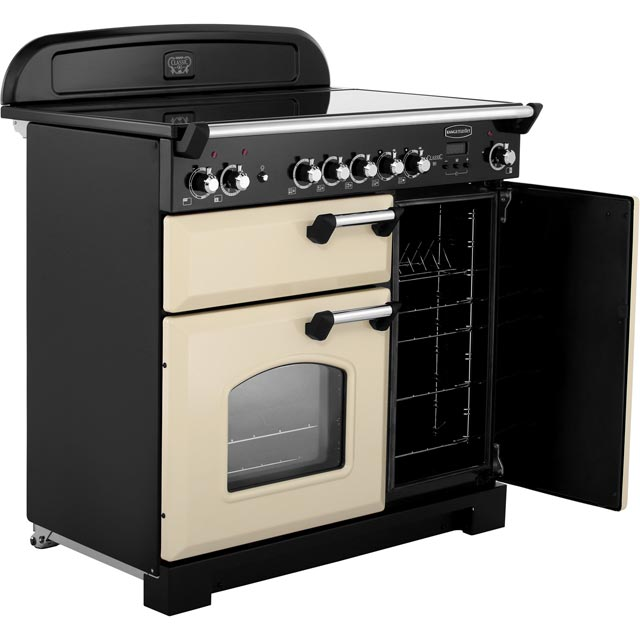 Rangemaster CLA90ECCY/C Classic 90cm Electric Range Cooker - Cranberry / Chrome - CLA90ECCY/C_CY - 5