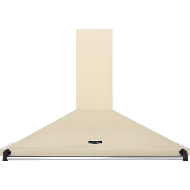 Rangemaster Classic CLAHDC100CR/C 100 cm Chimney Cooker Hood - Cream / Chrome - E Rated