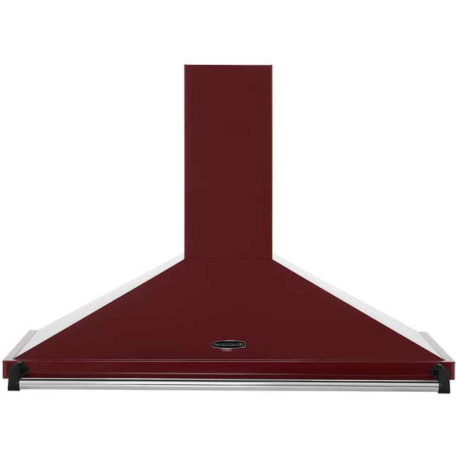 Rangemaster Classic CLAHDC100CY/C 100 cm Chimney Cooker Hood - Cranberry / Chrome - E Rated