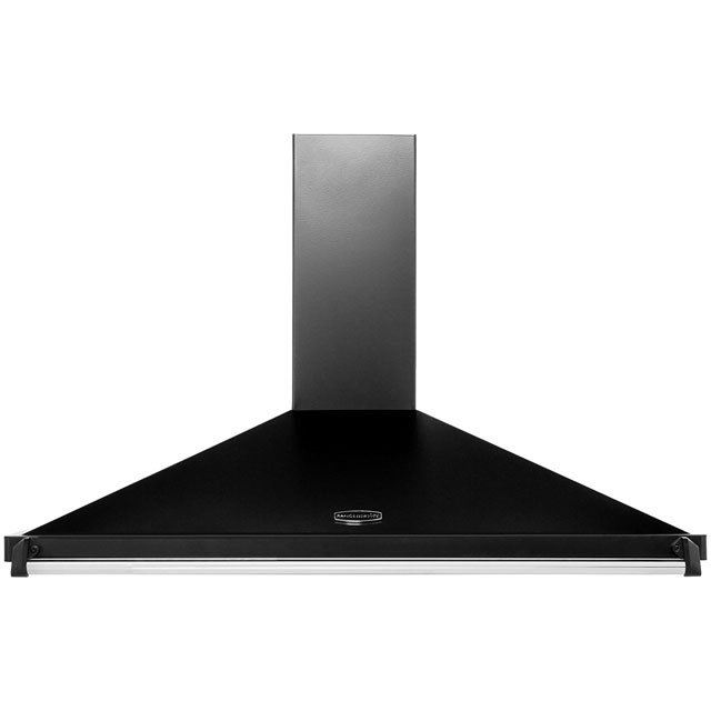 Rangemaster Classic 110 110 cm Chimney Cooker Hood - Black / Chrome - E Rated