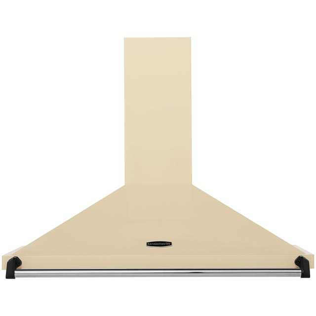 Rangemaster Classic CLAHDC90CR/C 90 cm Chimney Cooker Hood - Cream / Chrome - E Rated