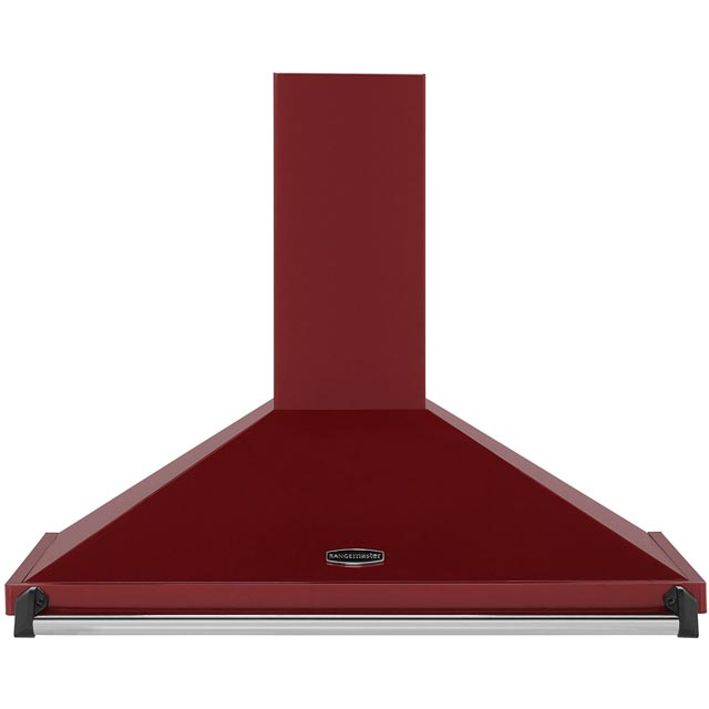 Rangemaster Classic CLAHDC90CY/C 90 cm Chimney Cooker Hood - Cranberry / Chrome - E Rated