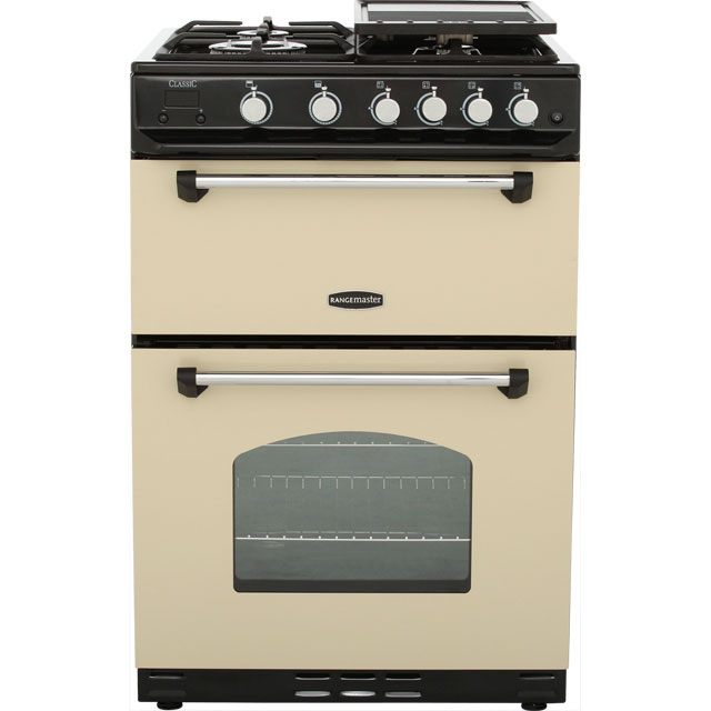 Rangemaster Classic 60 CLAS60NGFCR/C Gas Cooker with Variable Gas Grill - Cream / Chrome - B/B Rated