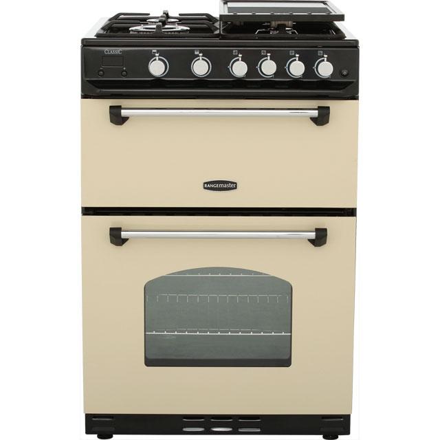 Rangemaster CLASSIC60 NGFCRC 600mm Mini Range Gas Cooker 4 Burner Hob Cream Best Price and Cheapest