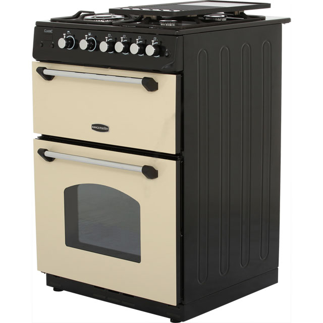 Rangemaster CLAS60NGFCR/C Gas Cooker - Cream / Chrome - CLAS60NGFCR/C_CR - 2
