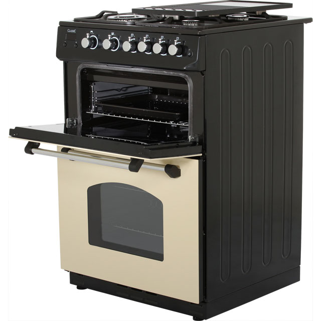 Rangemaster CLAS60NGFCR/C Gas Cooker - Cream / Chrome - CLAS60NGFCR/C_CR - 3