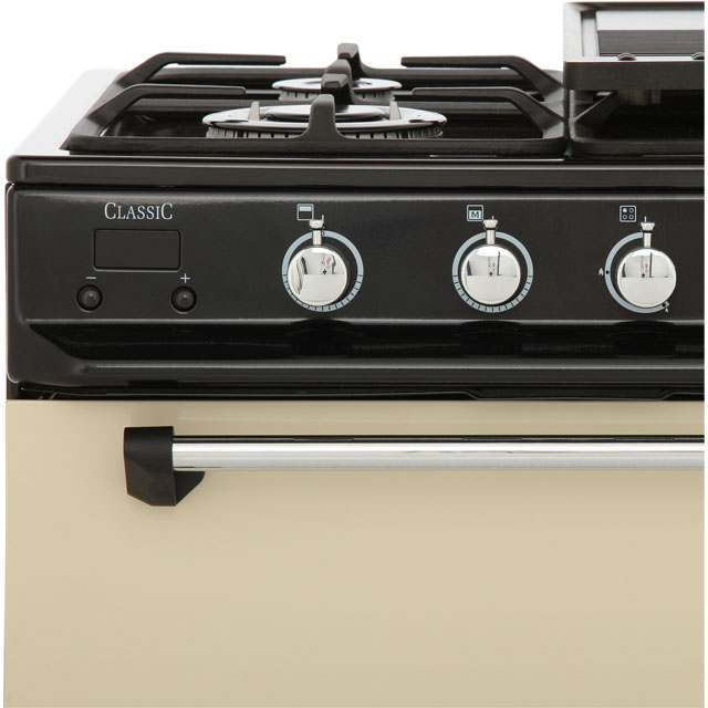 Rangemaster CLAS60NGFCR/C Gas Cooker - Cream / Chrome - CLAS60NGFCR/C_CR - 5
