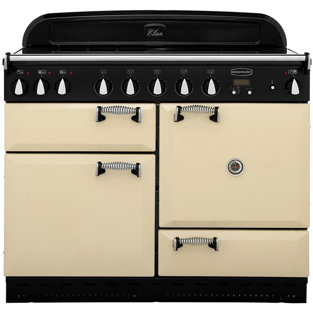 Rangemaster Elan ELAS110EICR 110cm Electric Range Cooker with Induction Hob - Cream / Chrome - A Rated