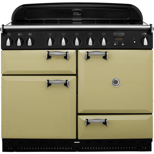Rangemaster Elan ELAS110EIOG 110cm Electric Range Cooker with Induction Hob - Olive Green - A Rated - ELAS110EIOG_OG - 1