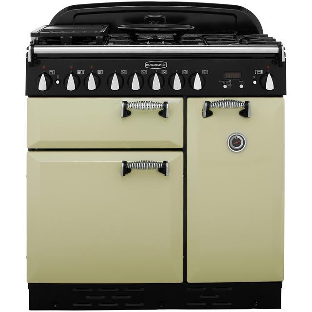Rangemaster Elan ELAS90DFFOG Free Standing Range Cooker in Olive Green