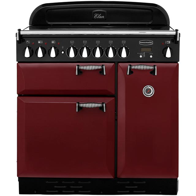 Rangemaster Elan 90cm Electric Range Cooker with Induction Hob - Cranberry - A Rated