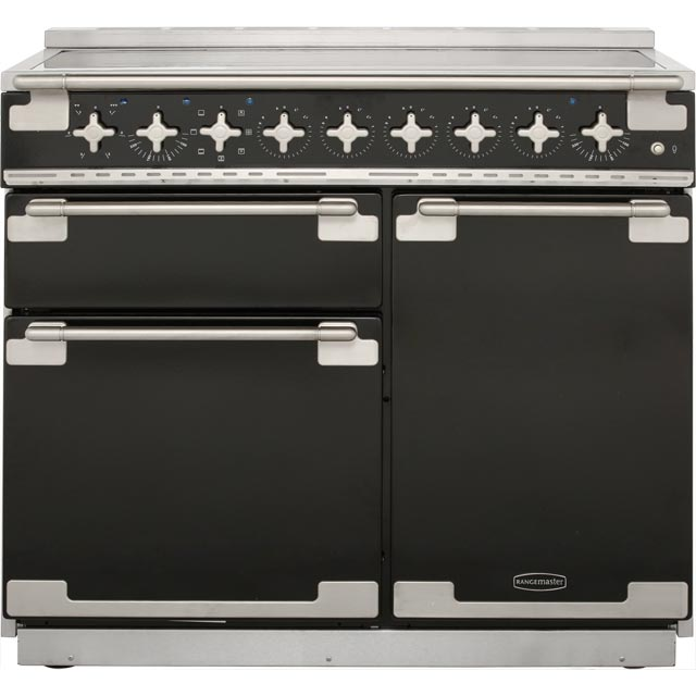 Rangemaster Elise 100cm Electric Range Cooker with Induction Hob - Black - A Rated