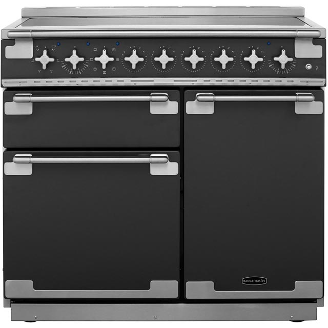 Rangemaster Elise ELS100EISL 100cm Electric Range Cooker with Induction Hob - Slate - A/A Rated - ELS100EISL_SL - 1