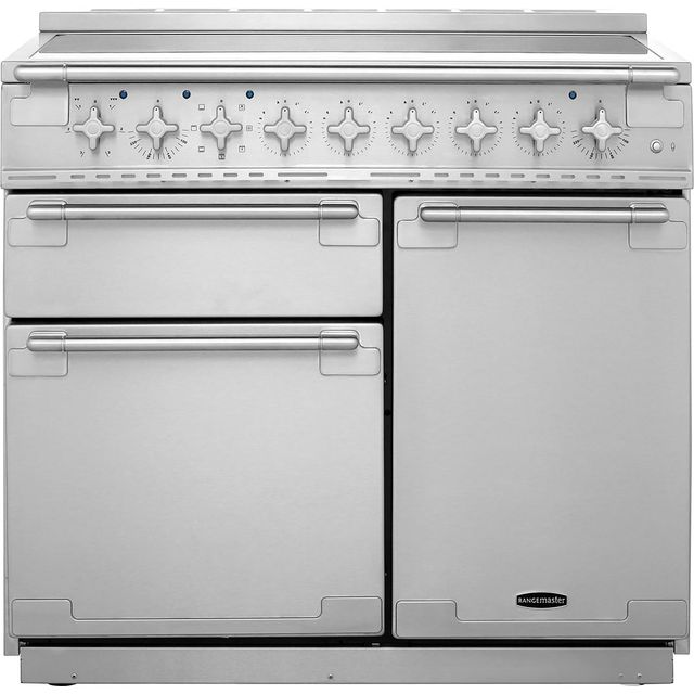 Rangemaster Elise ELS100EISS 100cm Electric Range Cooker with Induction Hob - Stainless Steel - A/A Rated - ELS100EISS_SS - 1