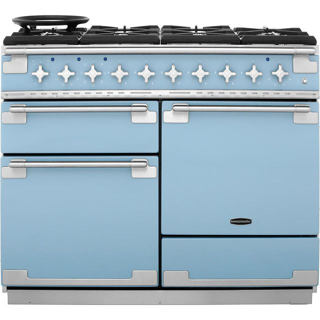 Rangemaster Elise ELS110DFFCA 110cm Dual Fuel Range Cooker - China Blue - A/A Rated