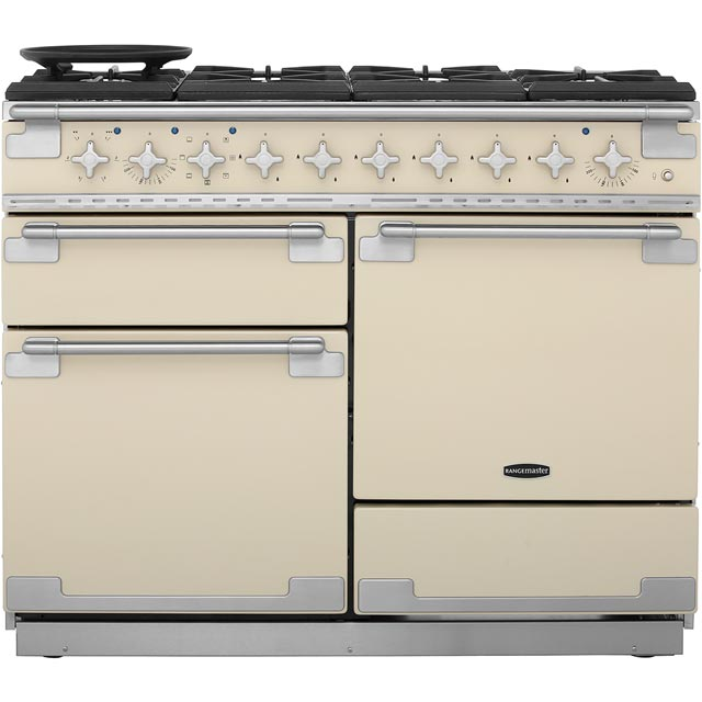 Rangemaster Elise 110cm Dual Fuel Range Cooker - Cream - A Rated
