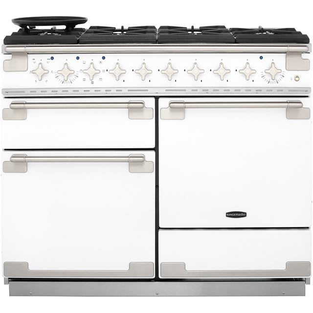 Rangemaster Elise 110cm Dual Fuel Range Cooker - White - A Rated