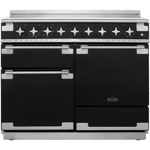 Rangemaster Elise 110cm Electric Range Cooker with Induction Hob - Black - A Rated