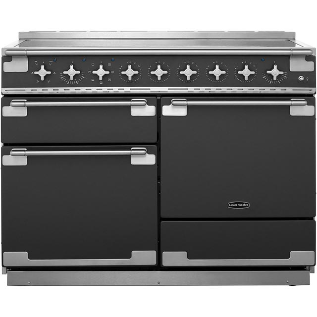 Rangemaster Elise 110cm Electric Range Cooker with Induction Hob - Slate - A Rated