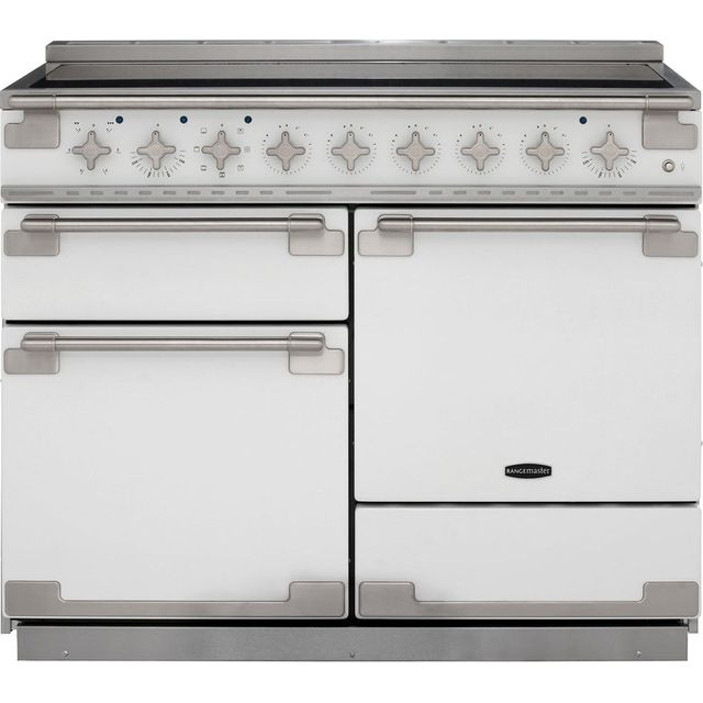 Rangemaster Elise ELS110EIWH 110cm Electric Range Cooker with Induction Hob - White - A Rated - ELS110EIWH_WH - 1