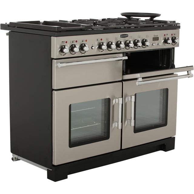 Rangemaster EXL110DFFCY/C Excel 110cm Dual Fuel Range Cooker - Cranberry / Chrome - EXL110DFFCY/C_CY - 3
