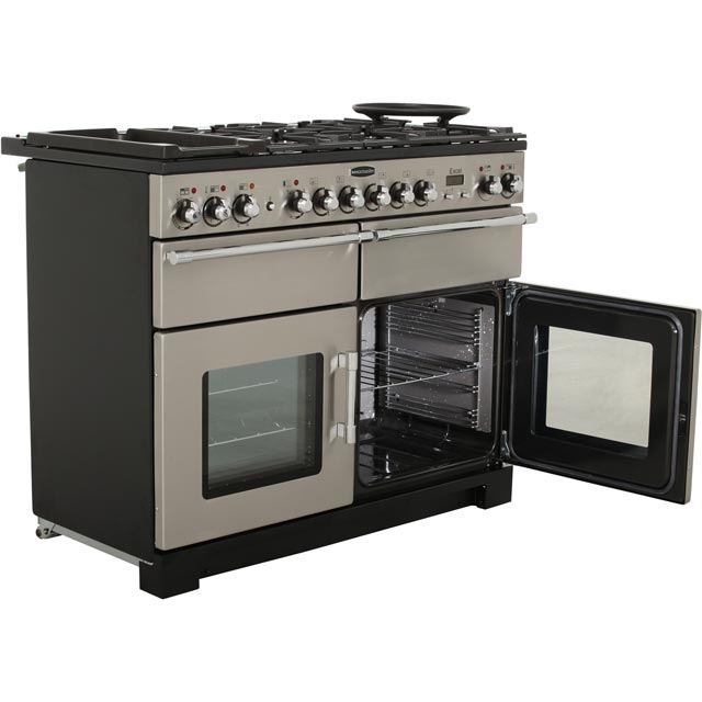 Rangemaster EXL110DFFCY/C Excel 110cm Dual Fuel Range Cooker - Cranberry / Chrome - EXL110DFFCY/C_CY - 4